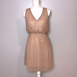 Anthropologie Everly Polka Dot Low Back Dress